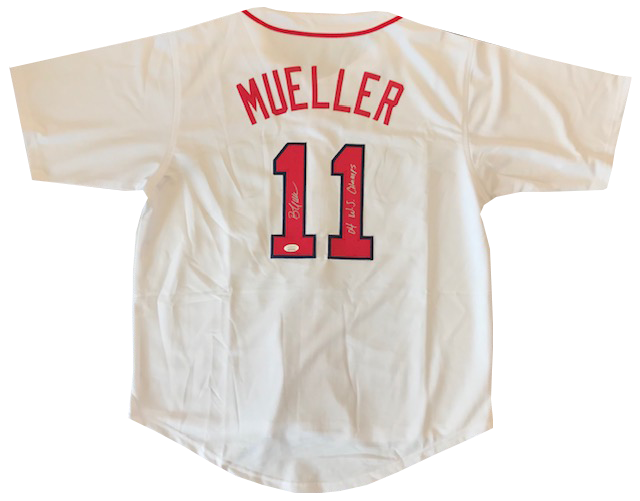 "Bill Mueller Autographed ""04 WS Champs"" White Boston Red Sox Jersey (JSA) PSM-Powers Sports Memorabilia"