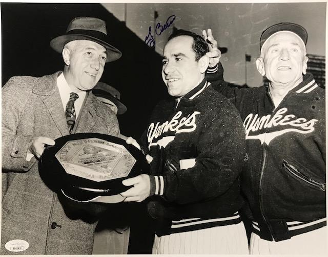 Yogi Berra Autographed Original United Press 11x14 Photo (JSA) PSM-Powers Sports Memorabilia
