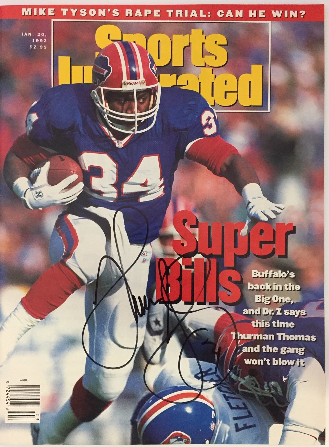 Thurman Thomas Autographed Sports Illustrated January 20 1992 PSM-Powers Sports Memorabilia