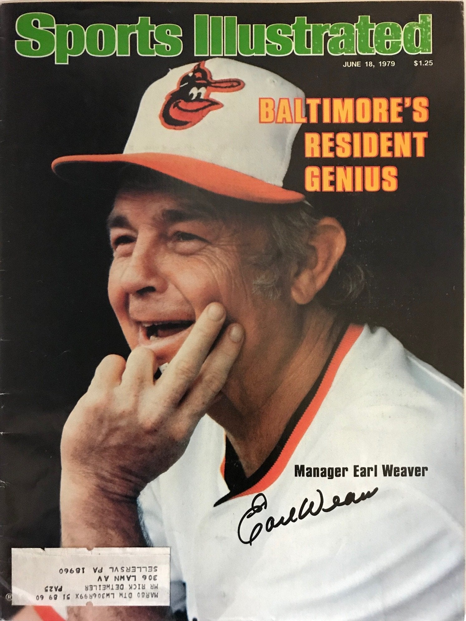 Earl Weaver Signed Sports Illustrated - June 18 1979 PSM-Powers Sports Memorabilia