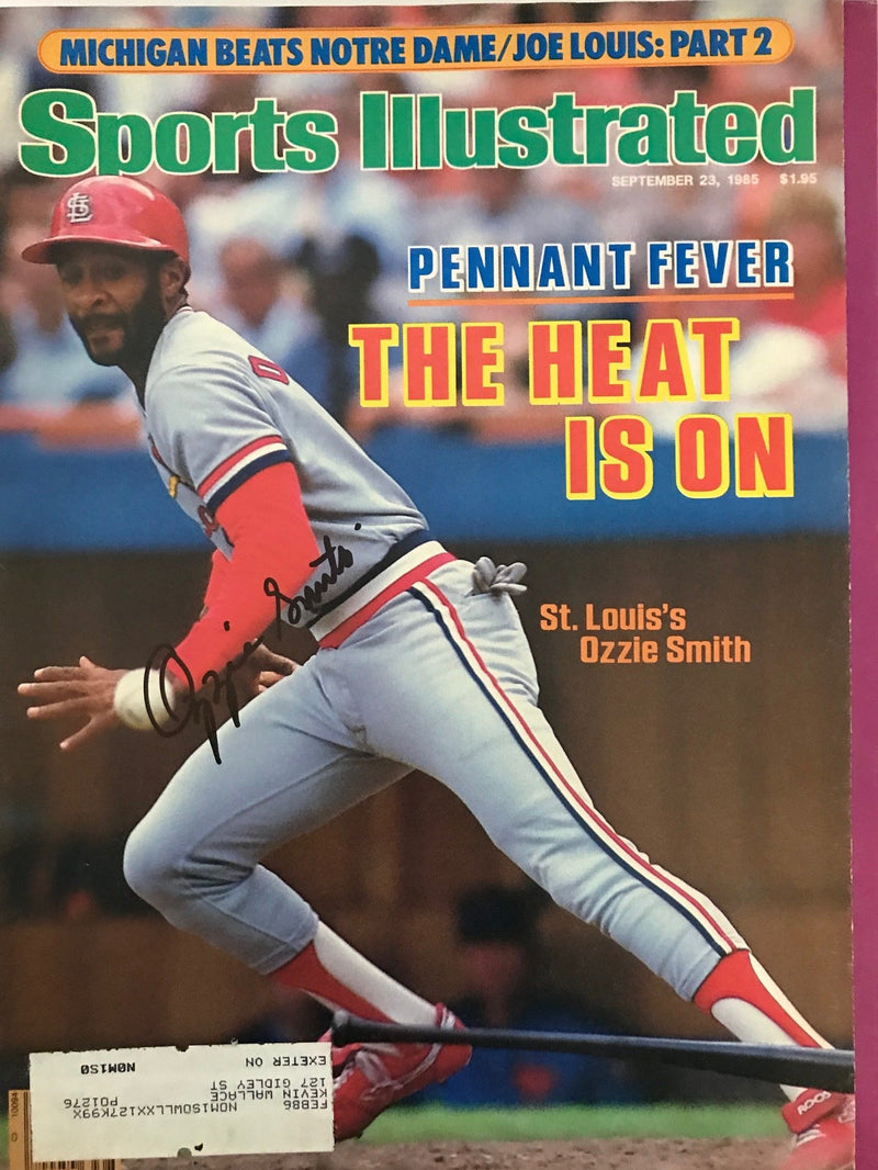Ozzie Smith Signed Sports Illustrated September 23 1985 PSM-Powers Sports Memorabilia
