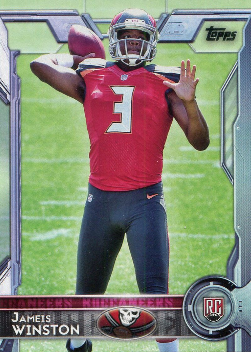 Jameis Winston Unsigned 2015 Topps Rookie Card PSM-Powers Sports Memorabilia