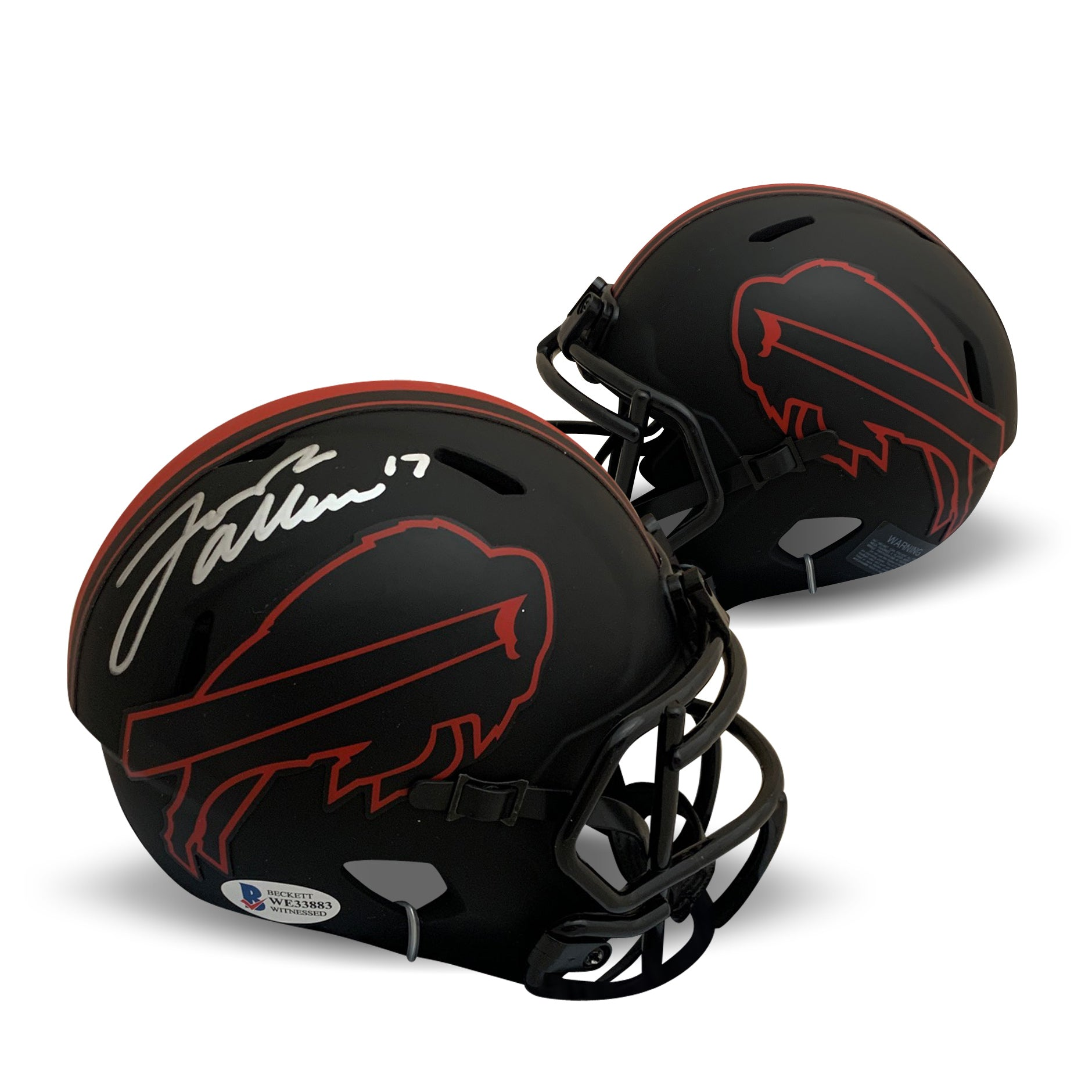 Josh Allen Autographed Buffalo Bills Signed Eclipse Speed Football Mini Helmet Beckett BAS COA-Powers Sports Memorabilia