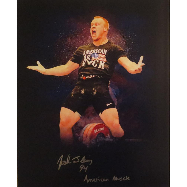 Jared Fleming Autographed USA Weightlifting American Record 170 Snatch Signed 16x20 Photo 12 Photo