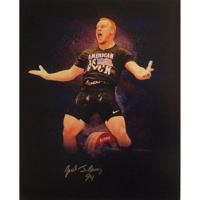 Jared Fleming Autographed USA Weightlifting American Record 170 Snatch Signed 16x20 Photo 13-Powers Sports Memorabilia