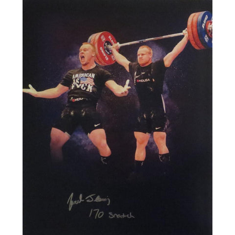 Jared Fleming Autographed USA Weightlifting American Record 170 Snatch Signed 16x20 Photo 5 Photo-Powers Sports Memorabilia