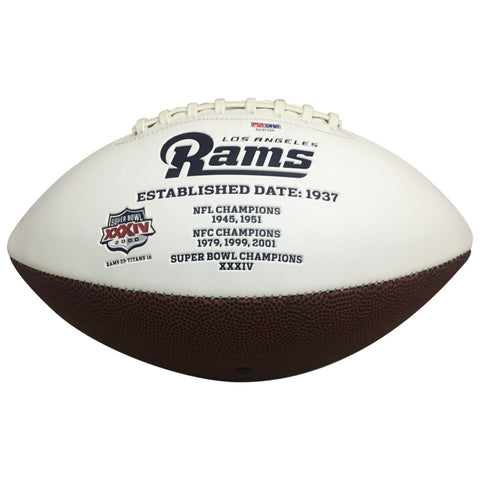 Jared Goff and Todd Gurley Autographed Los Angeles Rams Signed Logo Football PSA DNA COA-Powers Sports Memorabilia