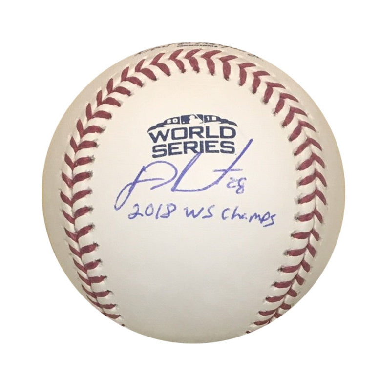 J.D. Martinez Boston Red Sox Autographed 2018 Rawlings World Series Champs Baseball Steiner Sports COA with UV Display Case JD-Powers Sports Memorabilia