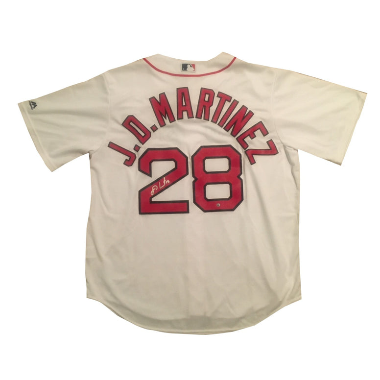 J.D. Martinez Autographed Boston Red Sox Signed Baseball Jersey Steiner Sports COA JD-Powers Sports Memorabilia