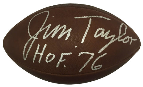 Jim Taylor Green Bay Packers Signed Wilson Official Duke Football PSA PSM-Powers Sports Memorabilia