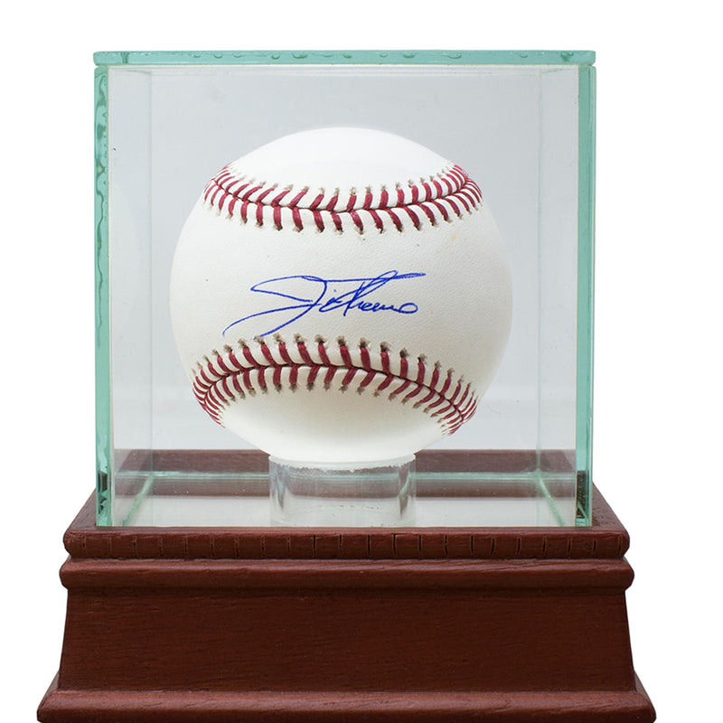 Jim Thome Cleveland Indians Signed MLB Baseball w/ UV Glass Display Case JSA PSM-Powers Sports Memorabilia