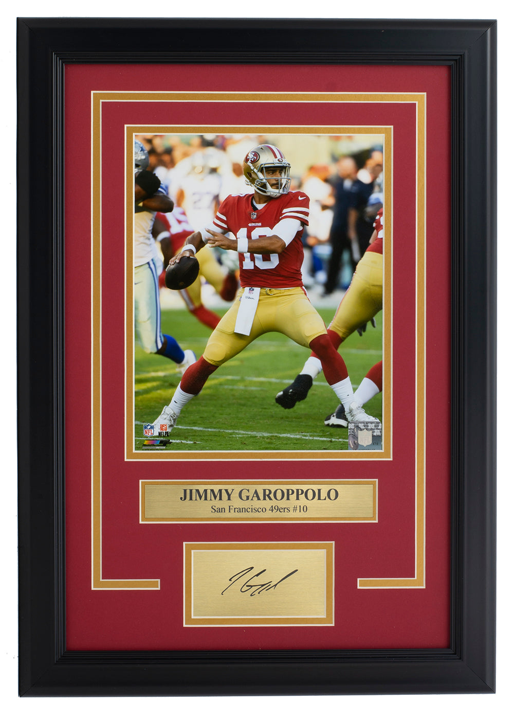 Jimmy Garoppolo Framed San Francisco 49ers 8x10 Photo w/Laser Engraved Autograph PSM-Powers Sports Memorabilia