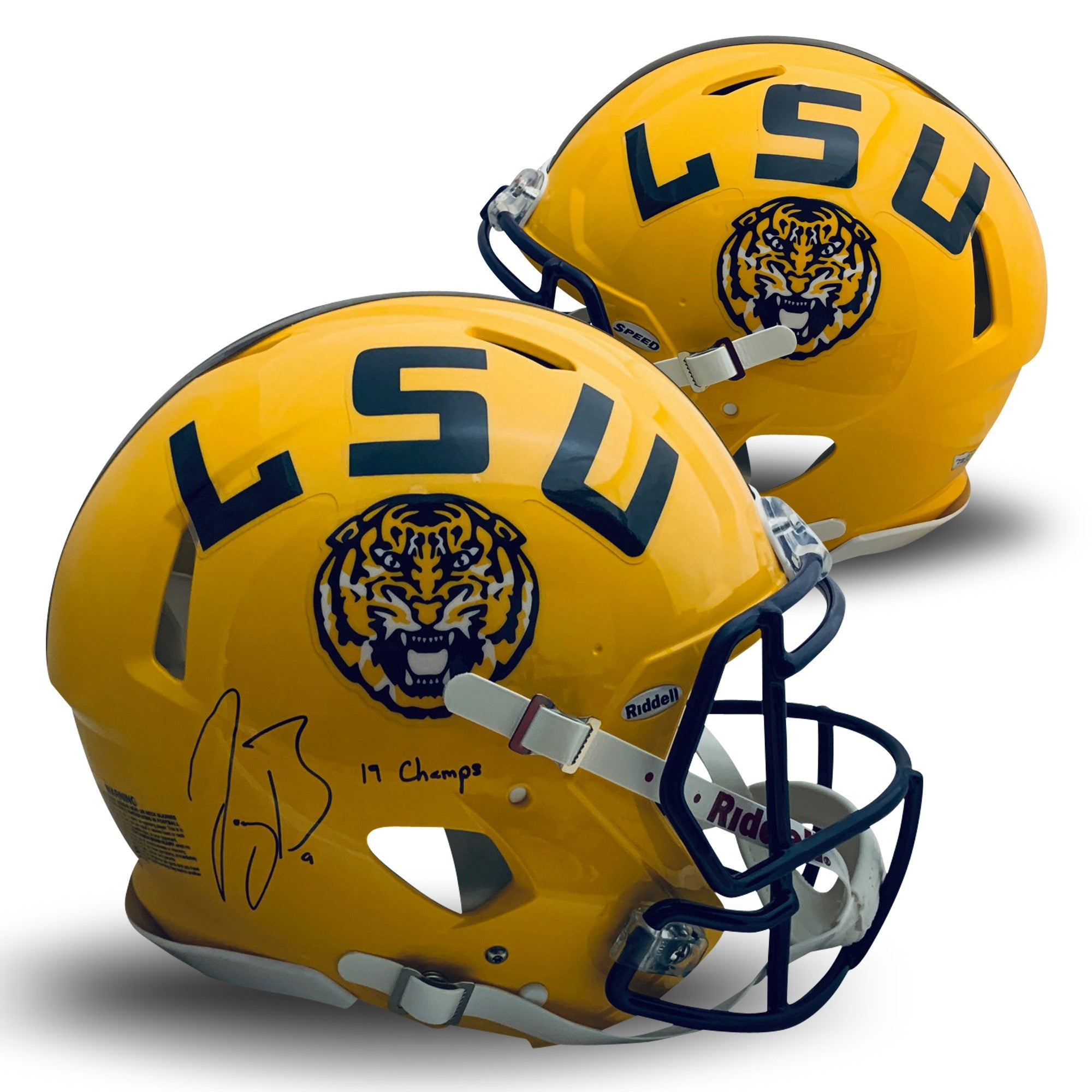 Joe Burrow Autographed LSU Tigers Signed Full Size Authentic Speed Helmet 2019 NATIONAL CHAMPIONS Fanatics Authentic COA-Powers Sports Memorabilia