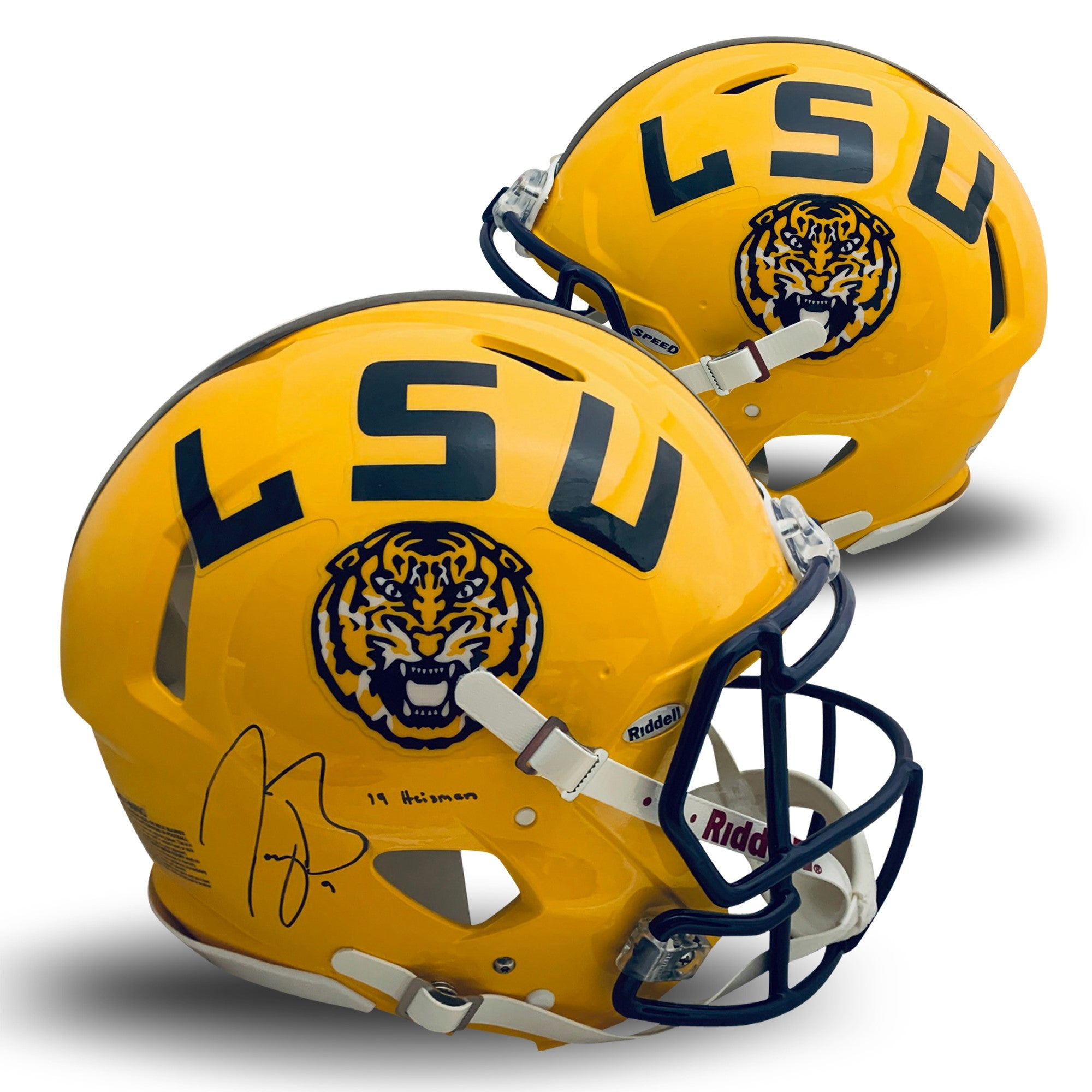 Joe Burrow Autographed LSU Tigers Signed Full Size Authentic Speed Helmet 2019 HEISMAN Fanatics Authentic COA-Powers Sports Memorabilia