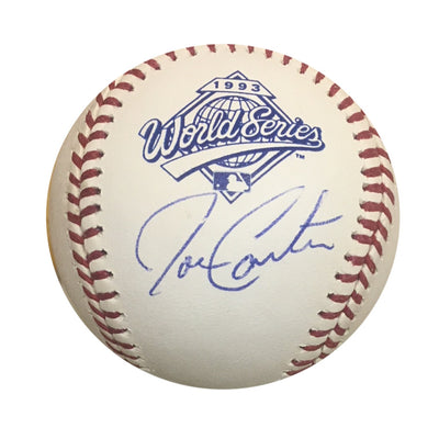 Joe Carter Toronto Blue Jays Autographed 1993 World Series Signed Baseball JSA COA With Display Case-Powers Sports Memorabilia