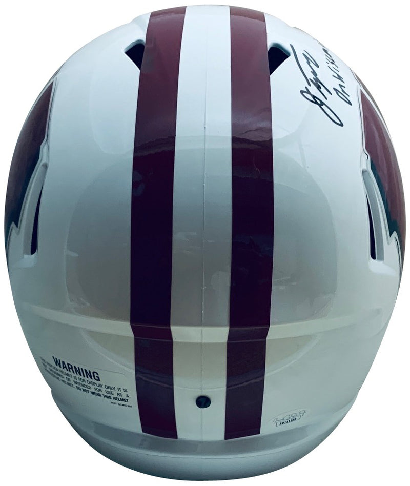 Jonathan Taylor Autographed Wisconsin Badgers Signed Football Full Size Speed Replica Helmet ON WISCONSIN JSA COA-Powers Sports Memorabilia