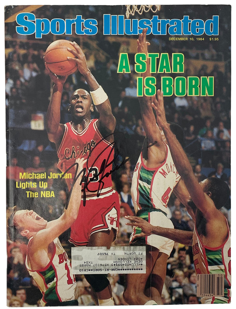 Rare Michael Jordan Bulls Signed Dec 10 1984 Sports Illustrated Magazine BAS PSM-Powers Sports Memorabilia