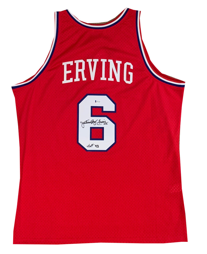Julius Erving Autographed Philadelphia 76ers Signed Mitchell and Ness Swingman Basketball Jersey HOF 93 Beckett BAS COA-Powers Sports Memorabilia