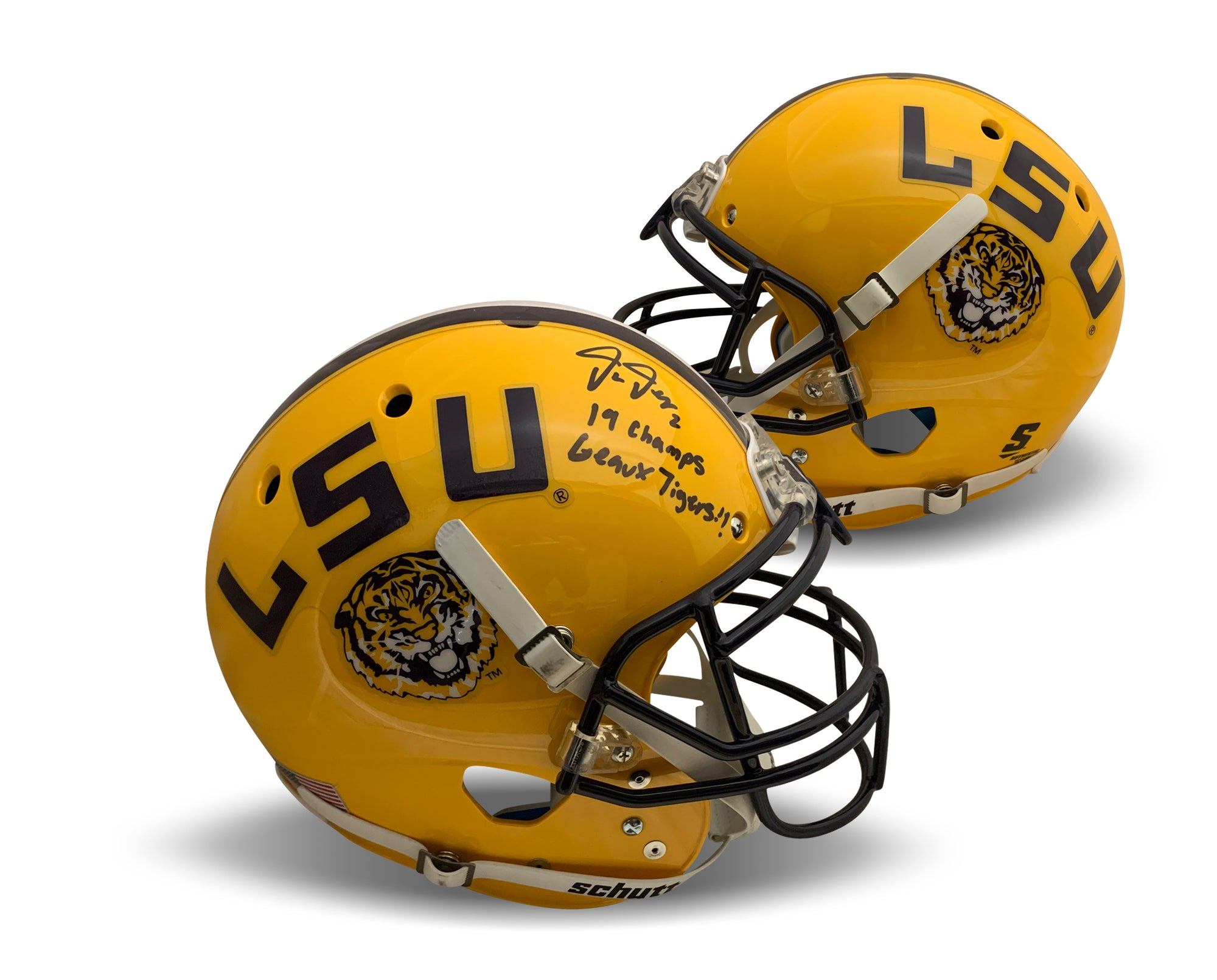 Justin Jefferson Autographed LSU Tigers Signed Authentic Full Size Football Helmet GEUAX 2019 CHAMPS Beckett BAS COA-Powers Sports Memorabilia