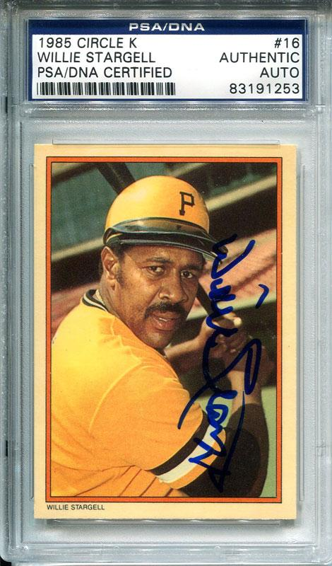 Willie Stargell Autographed 1985 Topps Card PSM-Powers Sports Memorabilia