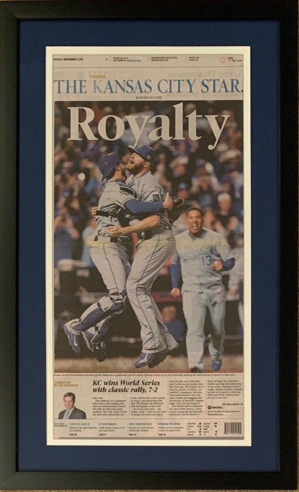 Kansas City Royals 2015 World Series Baseball Champions Star ROYALTY Original Framed Newspaper 11/2/15-Powers Sports Memorabilia