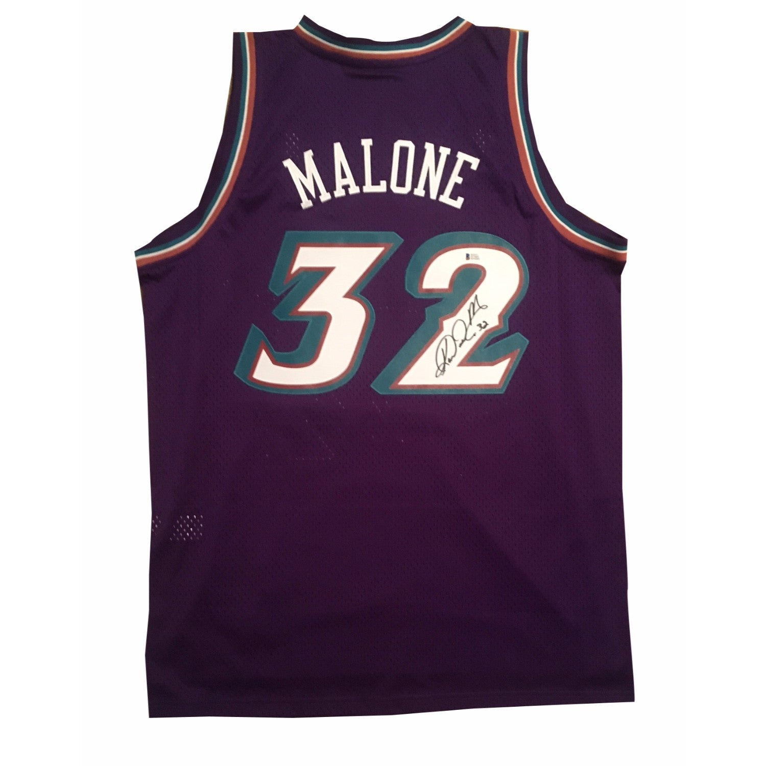 024ba768232e ... denmark karl malone autographed utah jazz signed swingman basketball  jersey beckett bas coa large powers sports
