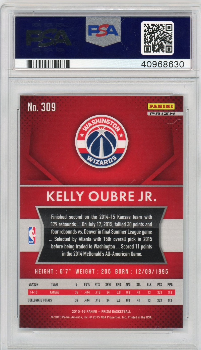 Kelly Oubre Jr Washington Wizards 2015 Panini Prizm Red White Blue Rookie Card RC #309 Graded PSA 10 GEM MINT-Powers Sports Memorabilia