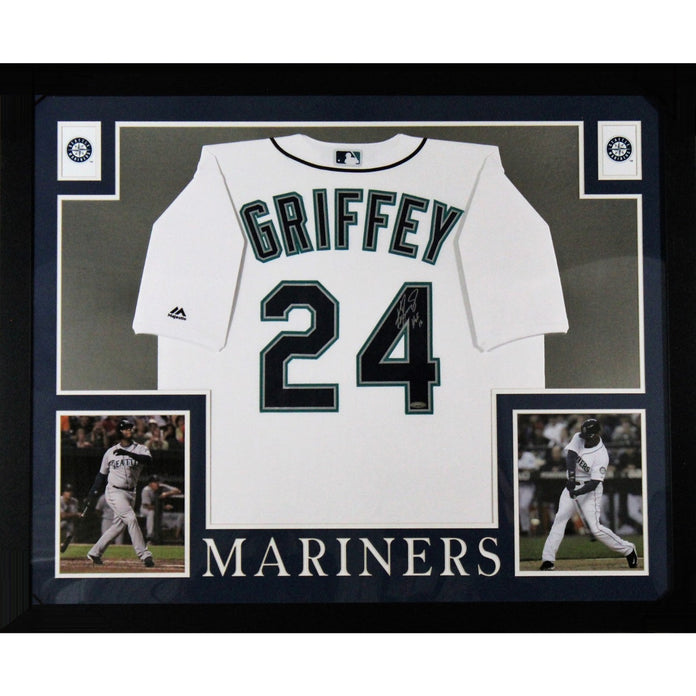 low priced 7432f 7290b Ken Griffey Jr Autographed Seattle Mariners Hall of Fame HOF 16 Signed  Majestic Baseball White Framed Jersey TRISTAR COA