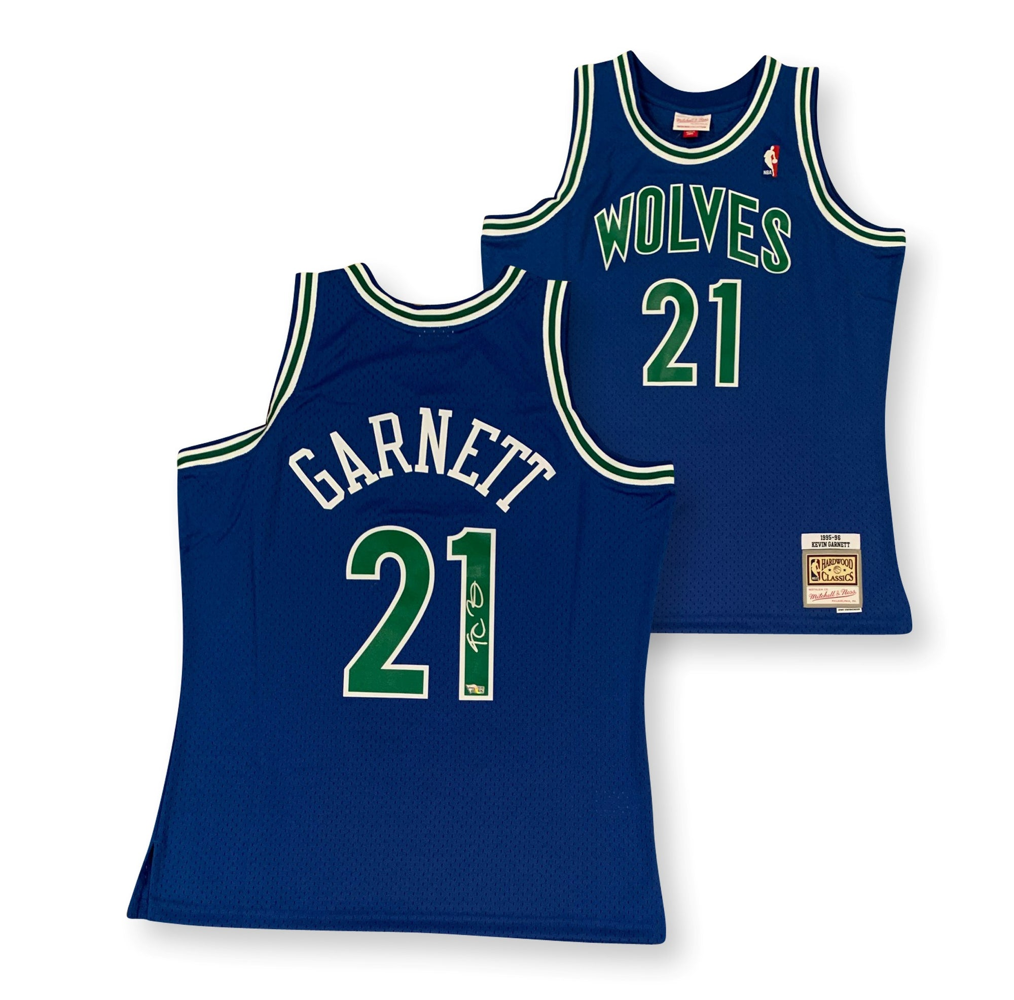 Kevin Garnett Autographed Minnesota Timberwolves 1995-1996 Mitchell and Ness NBA Swingman Signed Basketball Jersey Fanatics Authentic COA-Powers Sports Memorabilia
