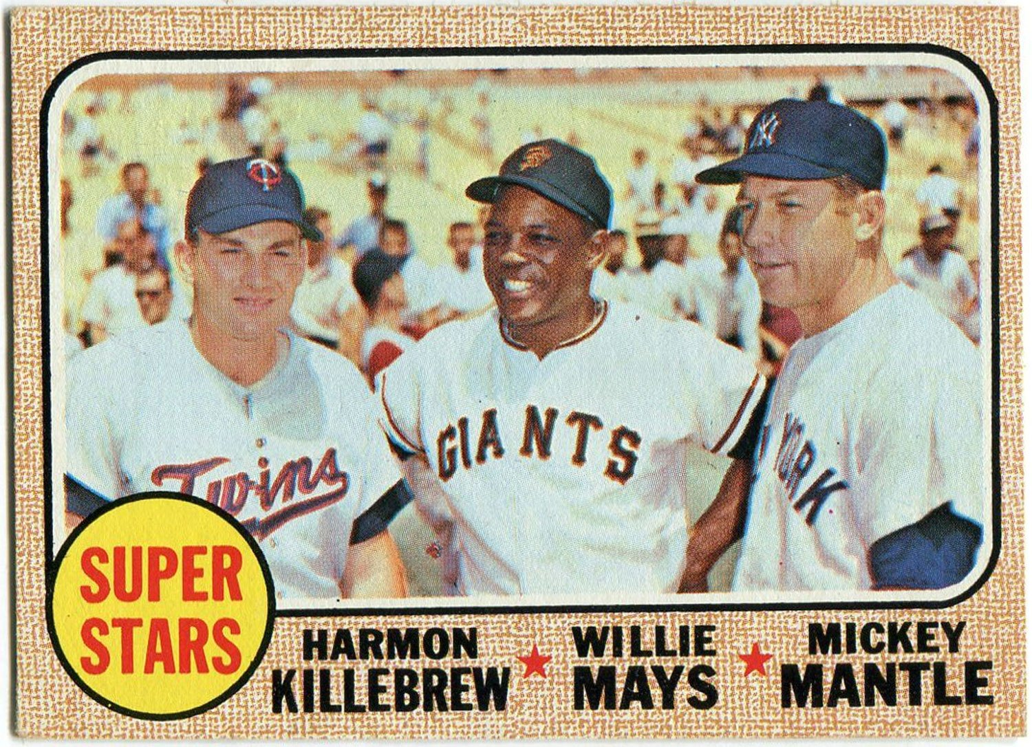 Harmon Killebrew, Willie Mays & Mickey Mantle 1968 Topps Card PSM-Powers Sports Memorabilia