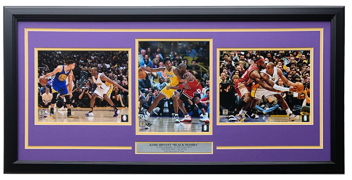 Kobe Bryant Framed Los Angeles Lakers 31x19 8x10 Photo Collage PSM-Powers Sports Memorabilia