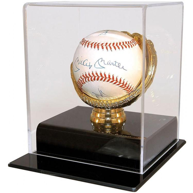 Baseball Gold Glove Lucite Display Case PSM-Powers Sports Memorabilia