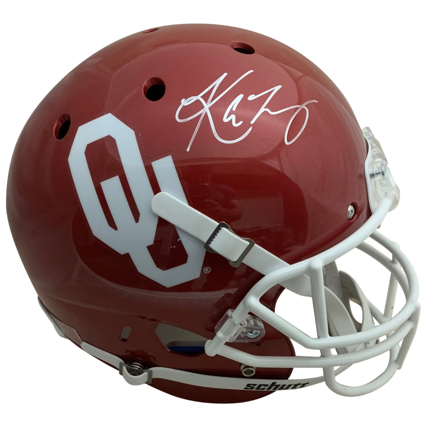 Kyler Murray Autographed Oklahoma Sooners Heisman Trophy Signed Football Full Size Helmet PSA DNA COA-Powers Sports Memorabilia