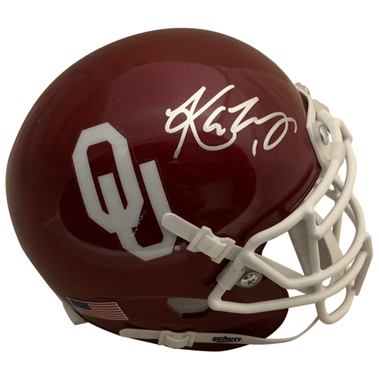 Kyler Murray Autographed Oklahoma Sooners Heisman Trophy Signed Football Mini Helmet PSA DNA COA-Powers Sports Memorabilia