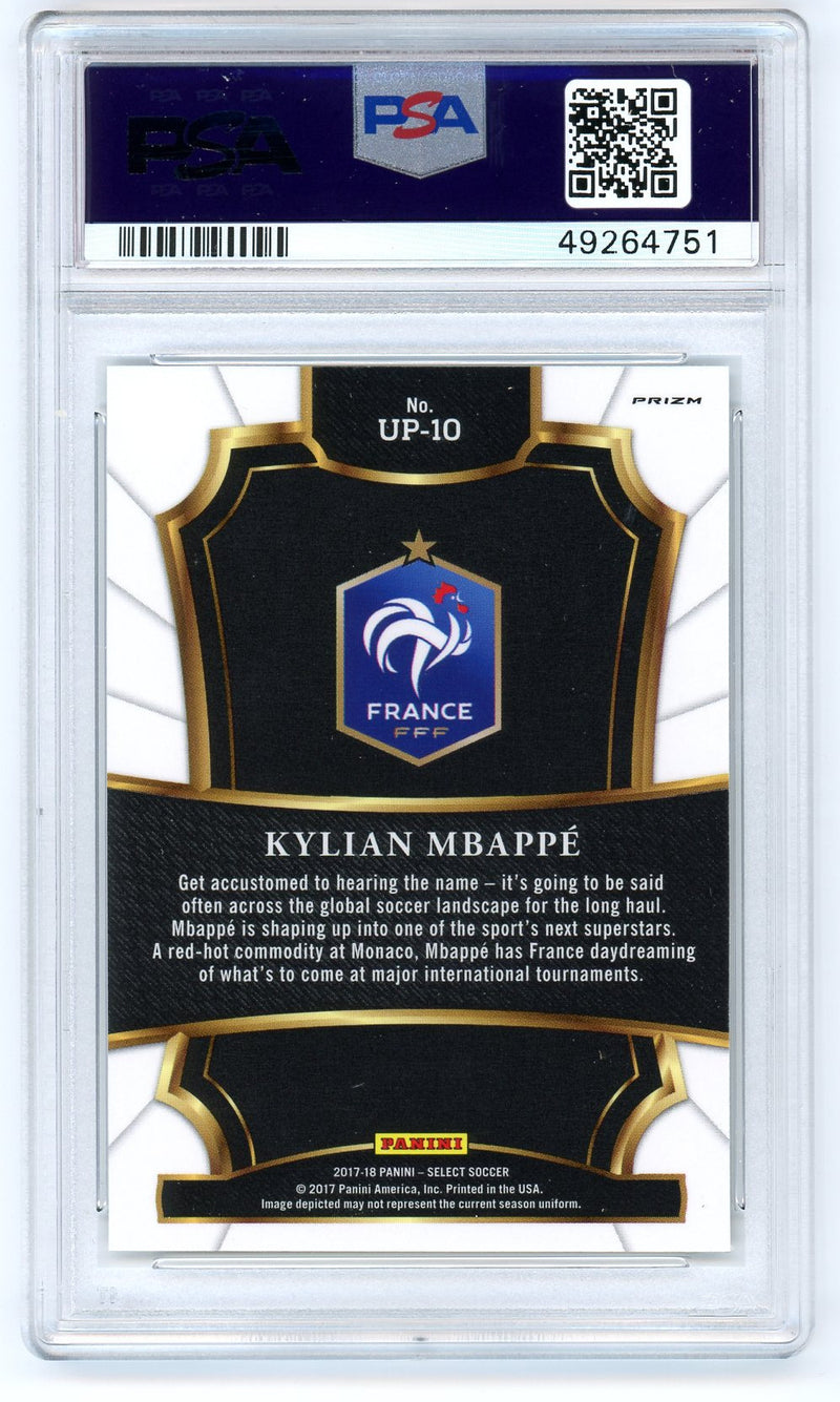 Kylian Mbappe France National Team 2017 Panini Select Unlimited Potential Soccer Rookie Card RC #UP-10 Graded PSA 9 MINT-Powers Sports Memorabilia