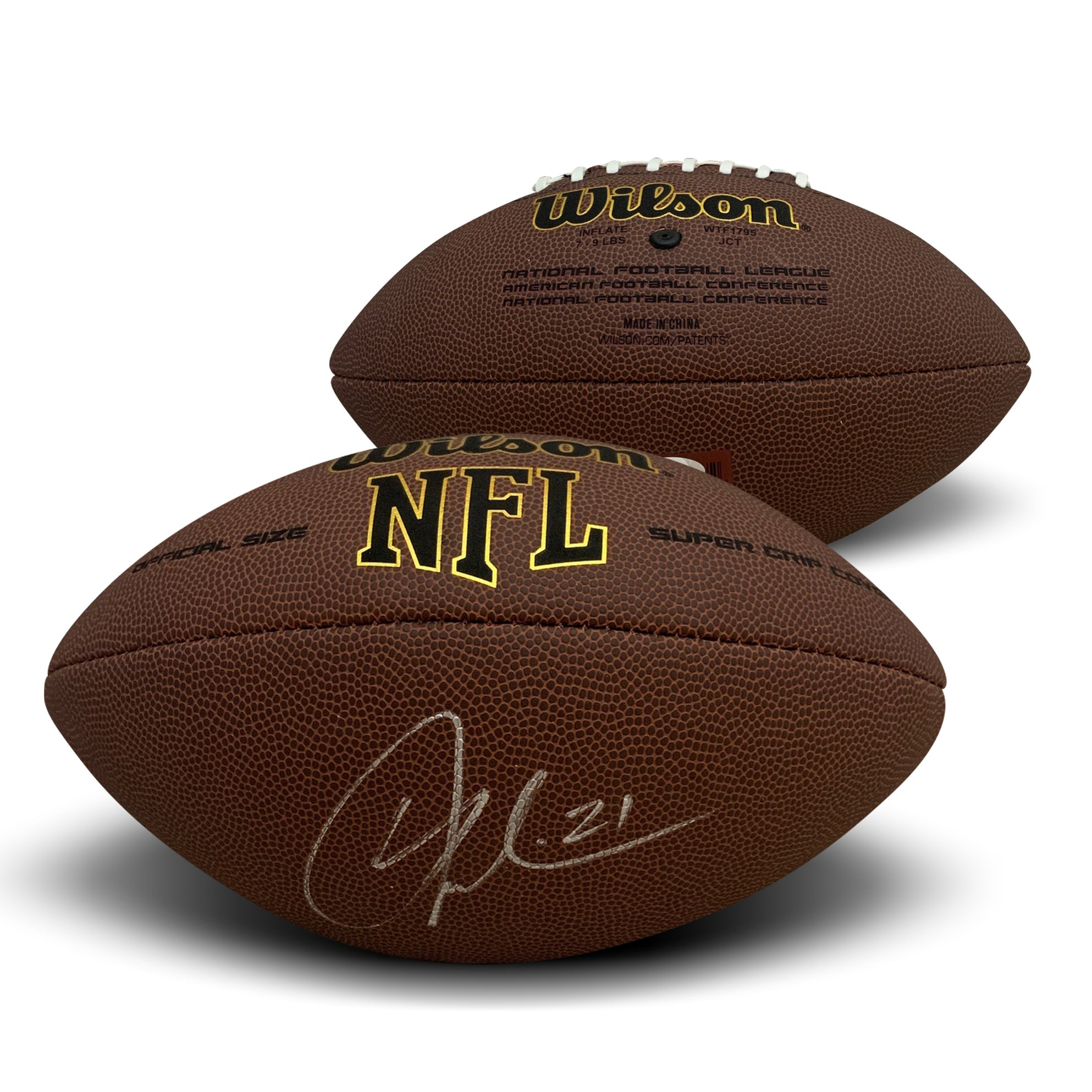 LaDainian Tomlinson San Diego Chargers Autographed NFL Replica Full Size Signed Football PSA DNA COA-Powers Sports Memorabilia