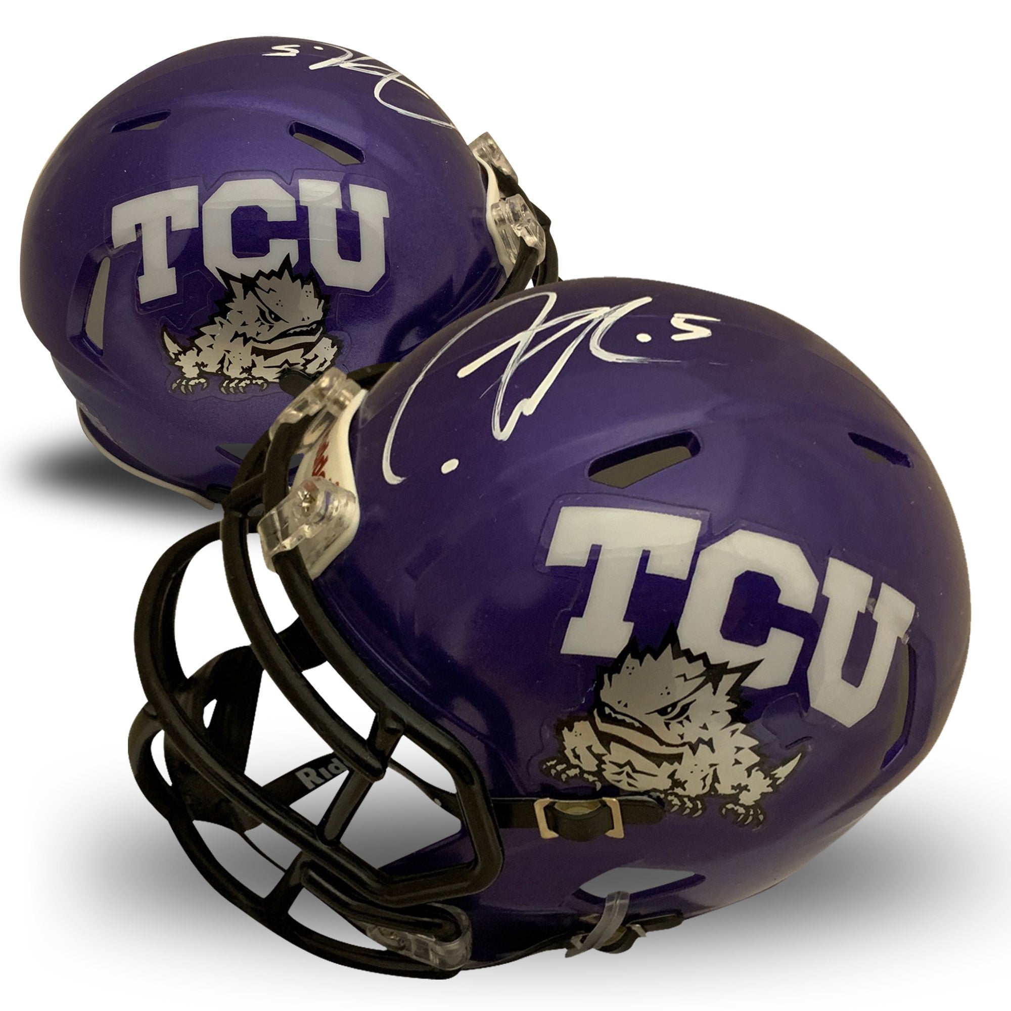 LaDainian Tomlinson Autographed TCU Horned Frogs Signed Football Mini Helmet PSA DNA COA