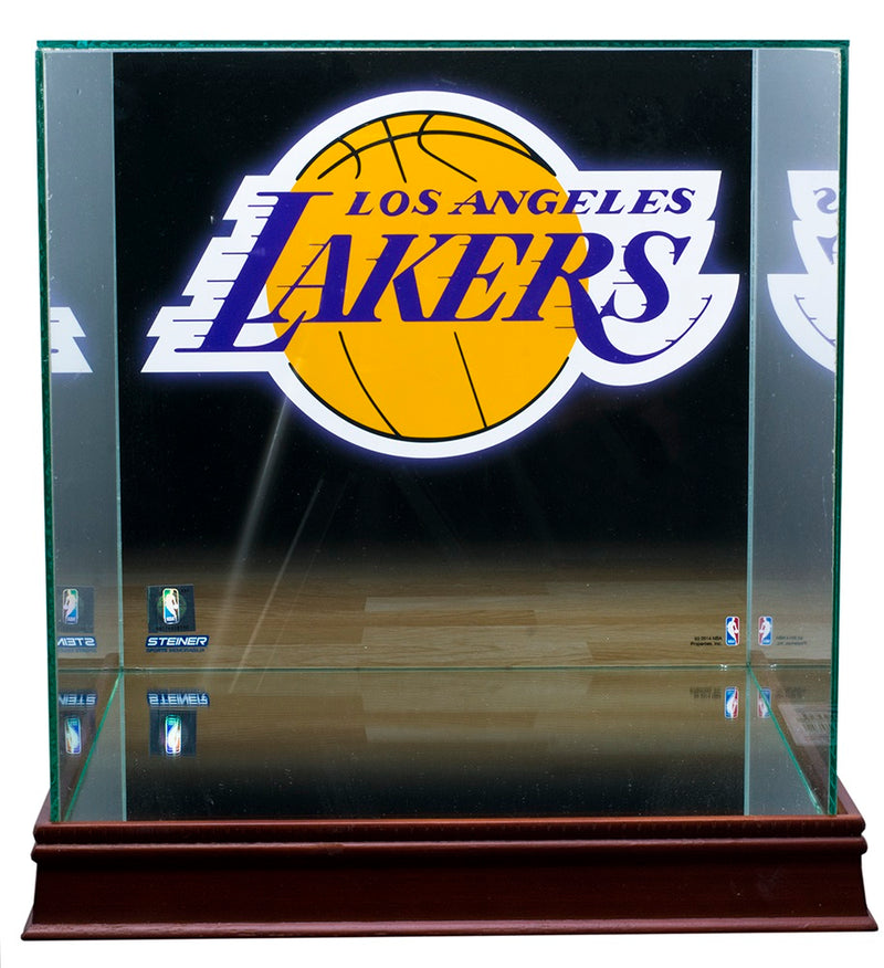 Los Angeles Lakers Full Size Basketball Glass Display Case PSM-Powers Sports Memorabilia