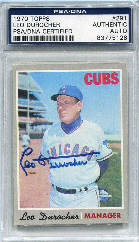 Leo Durocher Autographed 1970 Topps Card (PSA/DNA) PSM-Powers Sports Memorabilia
