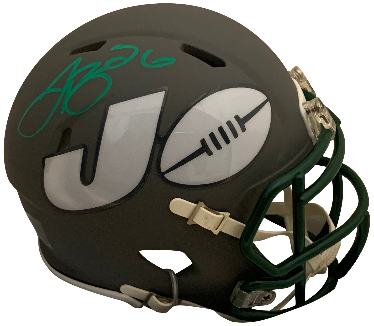Le'Veon Bell Autographed New York Jets Signed NFL AMP Football Mini Helmet JSA COA-Powers Sports Memorabilia