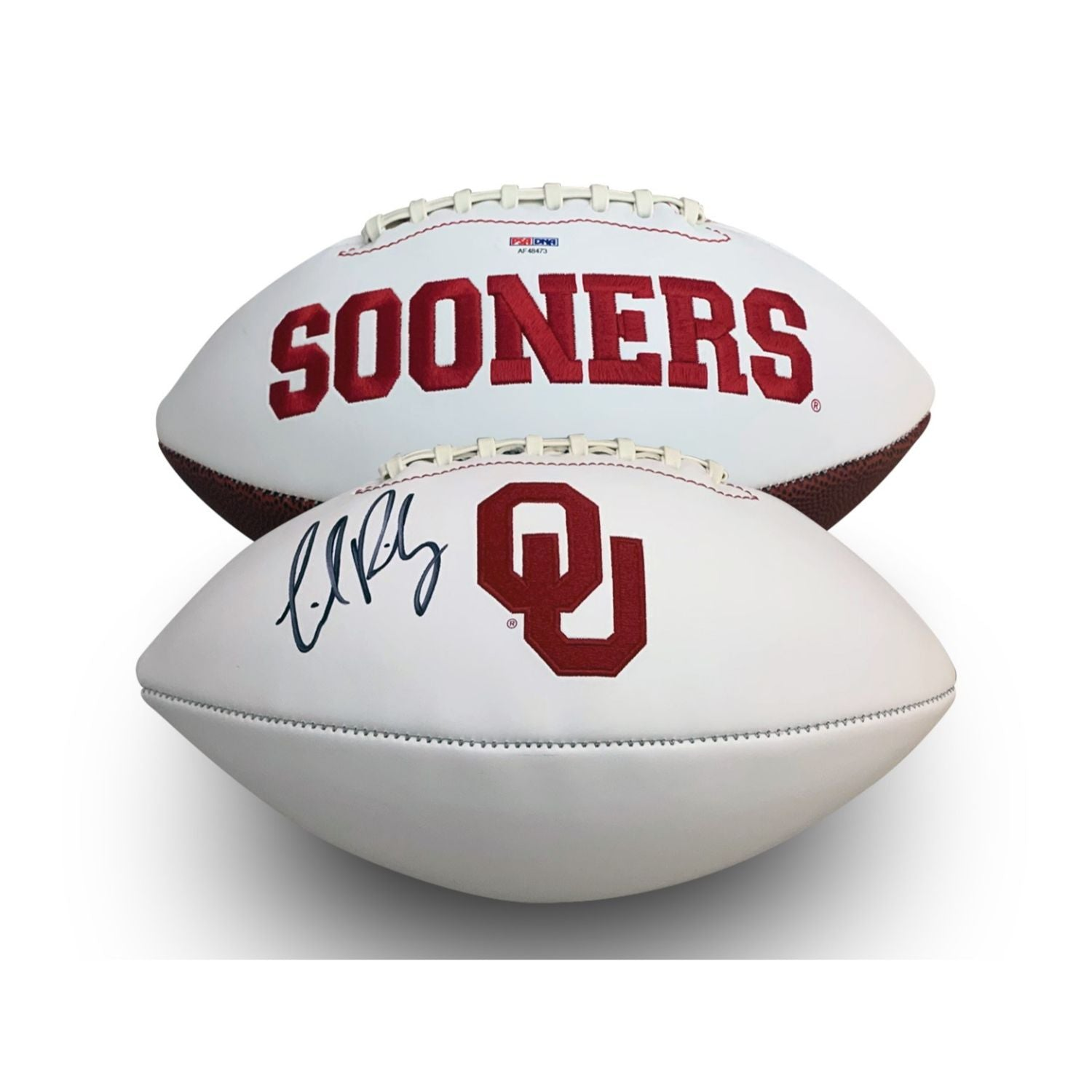 Lincoln Riley Autographed Oklahoma Sooners Signed Logo Football PSA DNA COA-Powers Sports Memorabilia