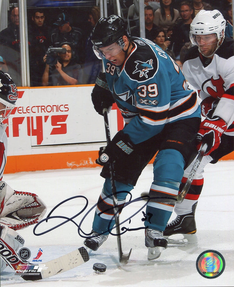 Logan Couture Autographed 8x10 San Jose Sharks Photo PSM-Powers Sports Memorabilia