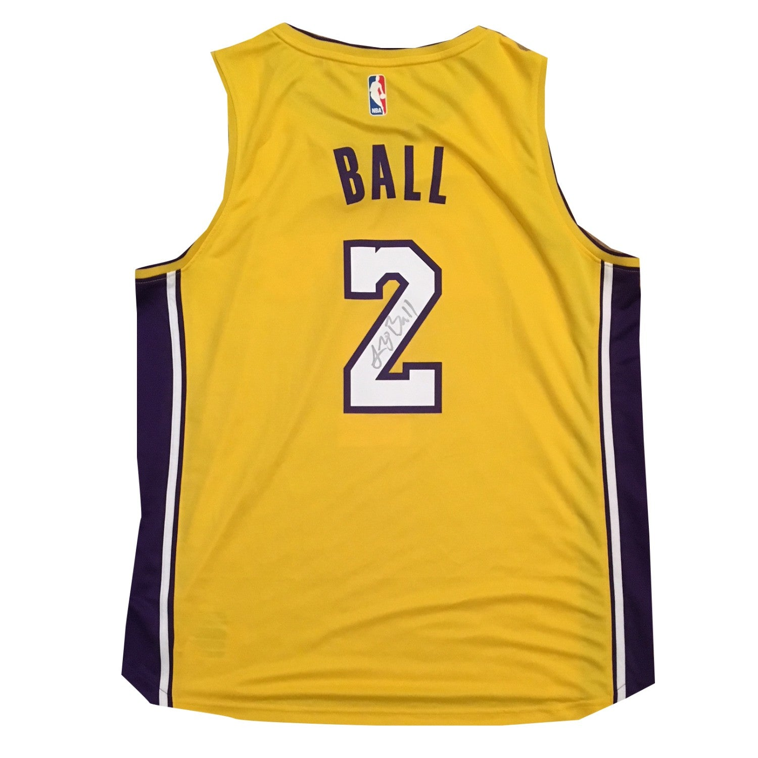 39c7c787223 Lonzo Ball Autographed Los Angeles Lakers Signed Basketball Jersey Beckett  BAS COA 4-Powers Sports