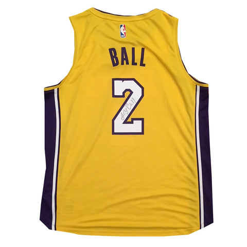 Lonzo Ball Autographed Los Angeles Lakers Signed Basketball Jersey Beckett  BAS COA 4-Powers Sports ... 418c590ed