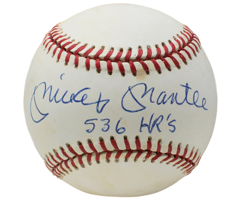 Mickey Mantle New York Yankees Signed OAL Baseball w/ 536 Hr Inscription PSA/DNA PSM-Powers Sports Memorabilia