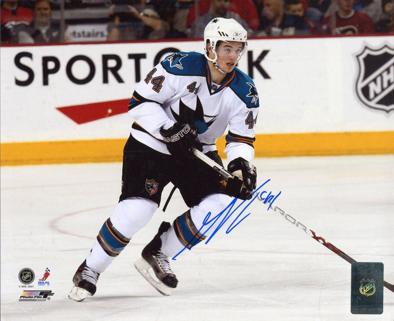 Marc-Edouard Vlasic Autographed San Jose Sharks 8x10 Photo PSM-Powers Sports Memorabilia