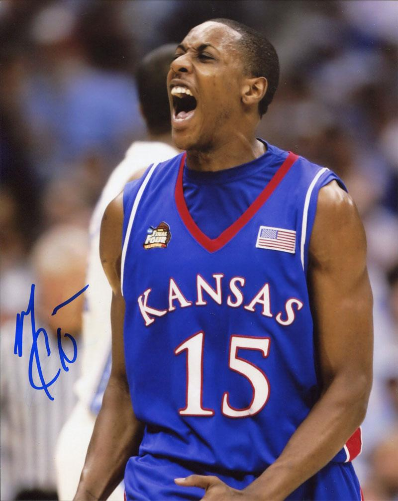 Mario Chalmers Autographed Celebrating 8x10 Photo PSM-Powers Sports Memorabilia