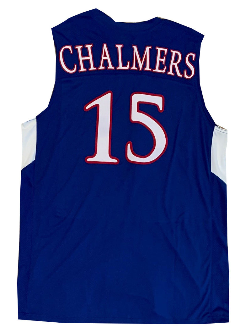 Mario Chalmers Custom Blue College Style Basketball Jersey-Powers Sports Memorabilia