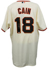 Matt Cain Signed San Francisco Giants Majestic Authentic Baseball Jersey MLB PSM-Powers Sports Memorabilia