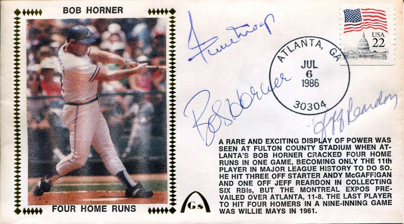 Willie Mays, Bob Horner & Jeff Reardon Autographed Gateway First Day Cover (JSA) PSM-Powers Sports Memorabilia